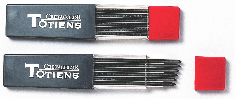 """Набор стержней для цангового карандаша Cretacolor """"TOTIENS"""" 6 шт 2,0 мм 4B"""