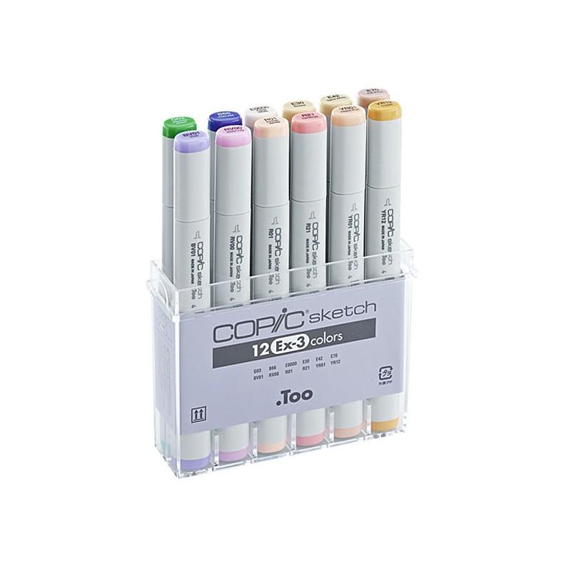 Купить Набор маркеров Copic Sketch EX-3 12 цв, Copic Too (Izumiya Co Inc), Япония