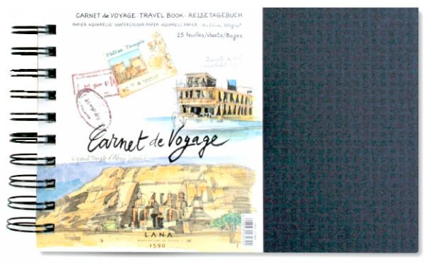 Купить Альбом для акварели на спирали Lana Carnet de Voyage 14х22 см 25 л 300 г, Франция