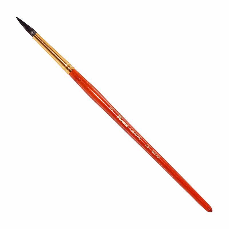Купить Кисть белка №5 круглая Pinax Creative 331 короткая ручка, Китай