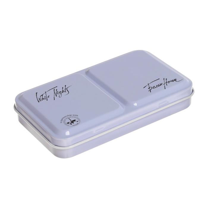 Купить Пенал для акварели Белые ночи на 12 кювет с палитрой, металл, светло-голубой, Невская Палитра, Китай
