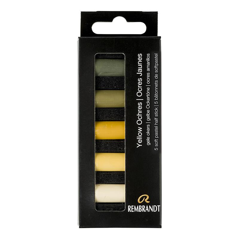 Купить Набор сухой пастели Talens Rembrandt Желтая охра 5 цв, в картонной коробке, Royal Talens