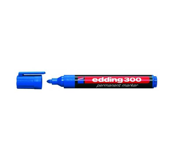 Купить Маркер перманентный Edding 300 1, 5-3 мм с круглым наконечником, синий, Германия