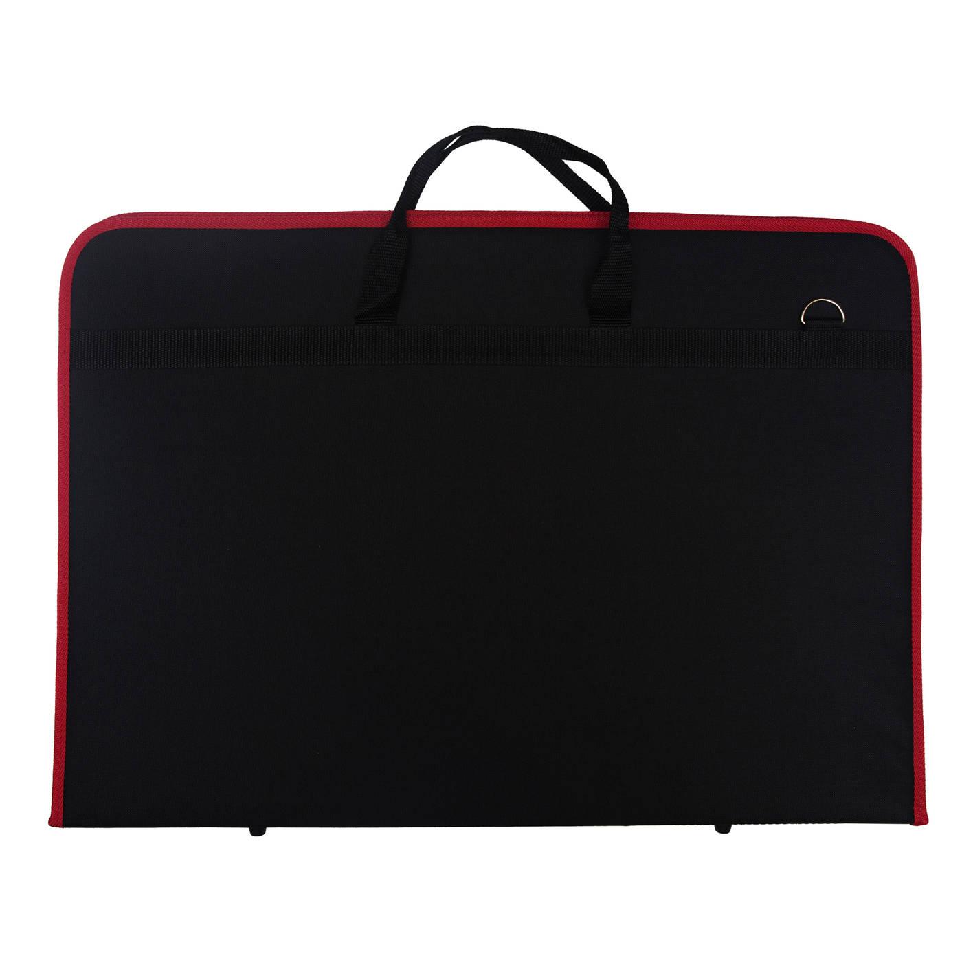 Купить Папка А1 цвет черный с красным кантом, Эстадо, Россия