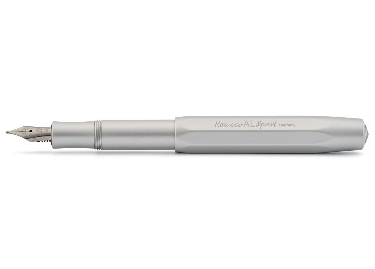 Купить Ручка перьевая Kaweco AL Sport EF 0, 5 мм, чернила синие, корпус серебристый, Германия