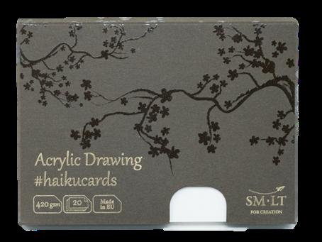 Купить Набор открыток SM-LT Acrylic Haikucards (белые) 14, 7x10, 6 см 420 г 20 шт, Smiltainis, Литва