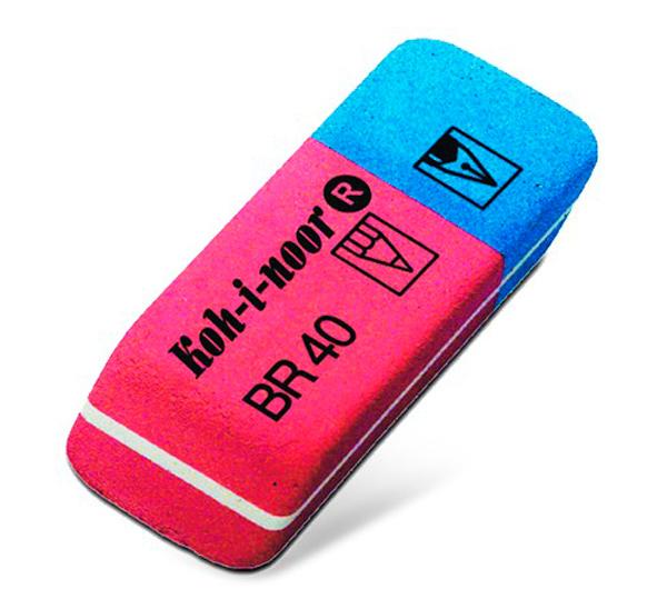 Ластик KOH-I-NOOR комбинированный для чернил и туши малый, KOH–I–NOOR, Чехия  - купить со скидкой