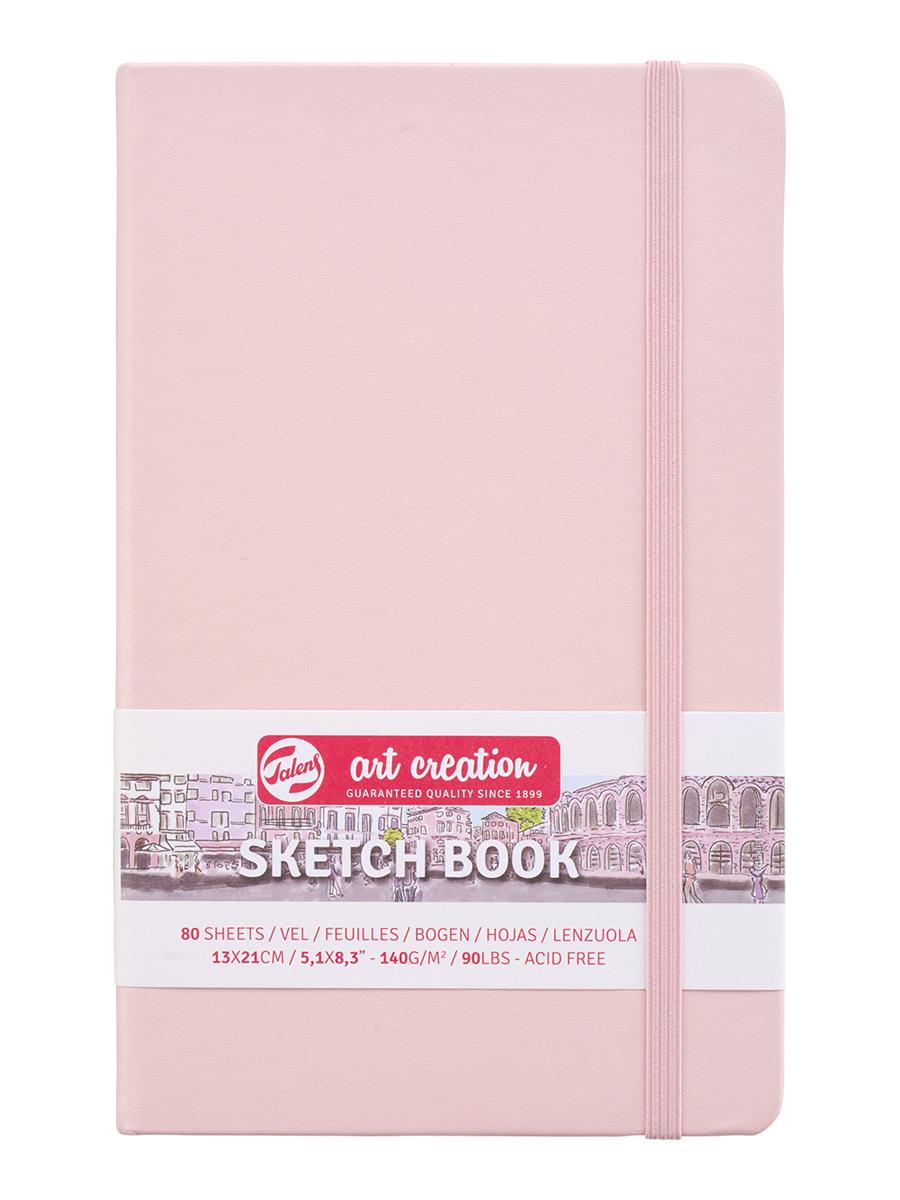 Купить Блокнот для зарисовок Art Creation 13х21 см 80 л 140 г, твердая обложка, розовый, Royal Talens