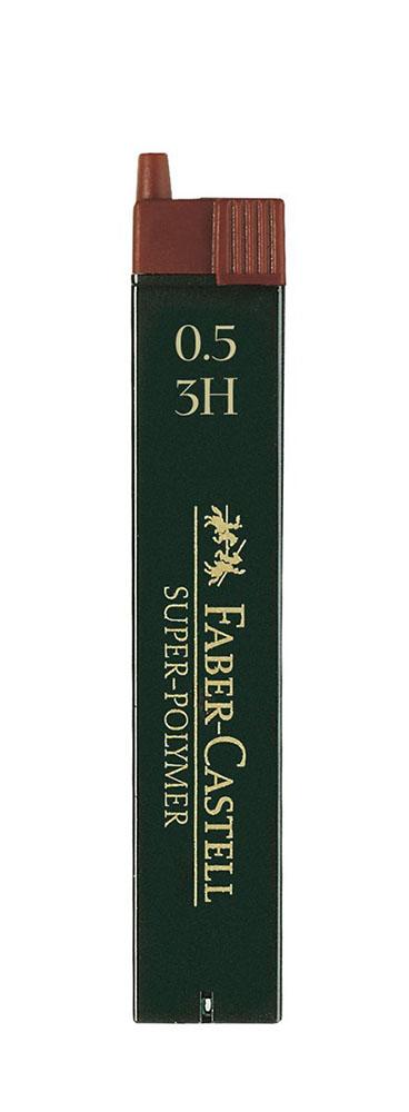 Купить Набор грифелей для механического карандаша Super Polymer 12 шт, 0, 5 мм 3H, Faber–Сastell, Германия