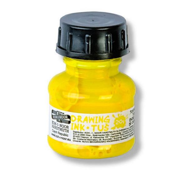 Купить Тушь Koh-i-Noor 20 г на водной основе Желтый, KOH–I–NOOR, Чехия