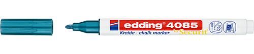 Маркер меловой Edding 4085 1-2 мм с круглым наконечником, синий металлик, Германия  - купить со скидкой