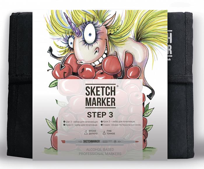 Купить Набор маркеров для начинающих Sketchmarker 36 Step 3- Шаг 3 (36 маркеров+сумка), Япония