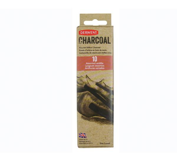 Набор уголь ивовый Derwent Willow Charcoal 10 шт  - купить со скидкой
