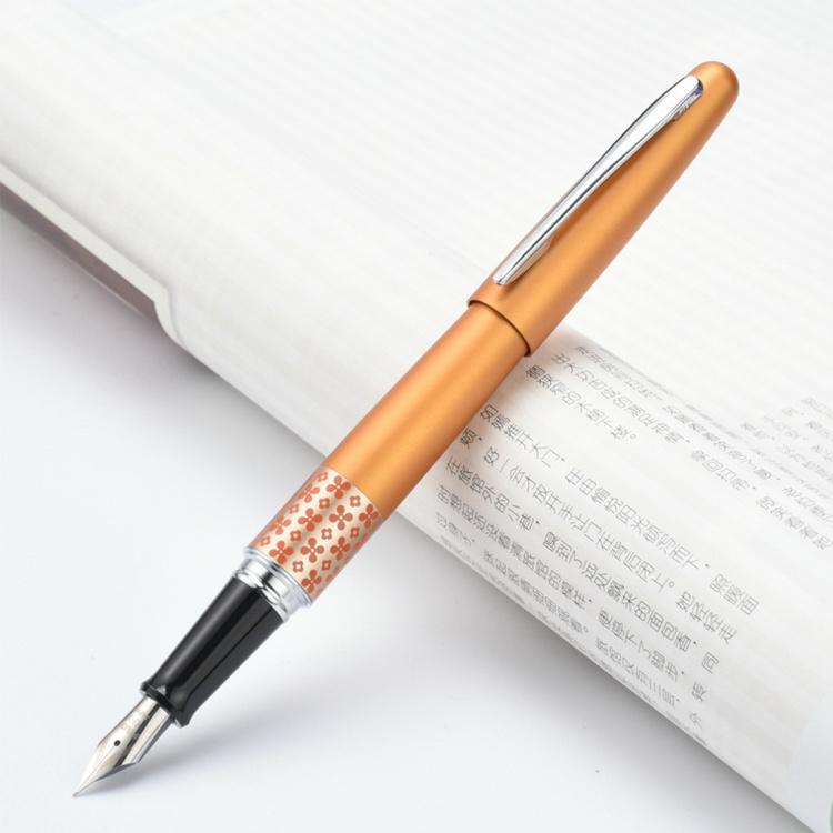 Купить Ручка перьевая Pilot M 0, 58 мм, синие чернила, корпус оранжевый, Япония