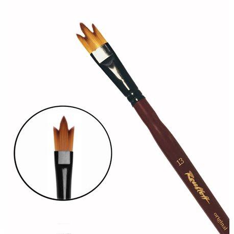 Купить Кисть синтетика №13 трезубец Roubloff 12RB короткая ручка, Россия