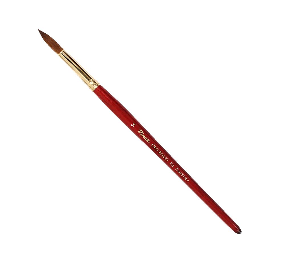 Купить Кисть синтетика №14 круглая Pinax Oro Rosso 751 короткая ручка, Китай