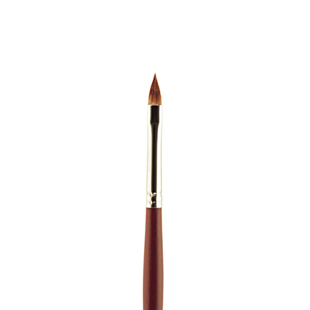 Купить Кисть синтетика №8 кошачий язык Альбатрос Студио длинная ручка, Россия