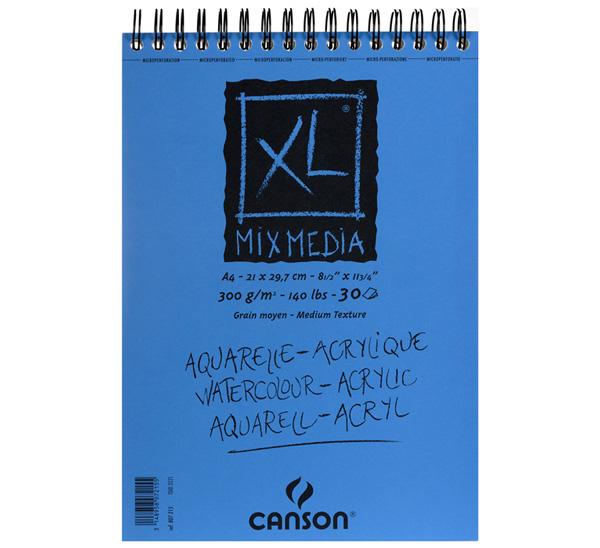 Купить Альбом для различных техник на спирали Canson XL Mix Media 21х29, 7 см 30 л 300 г, Франция