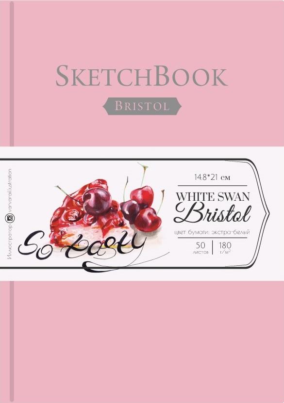 Купить Скетчбук для графики и маркеров Малевичъ Bristol Touch А5 50 л 180 г, розовый, Россия