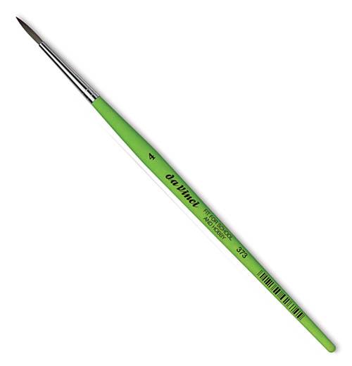 Купить Кисть синтетика №4 круглая Da Vinci 373 короткая ручка, Германия