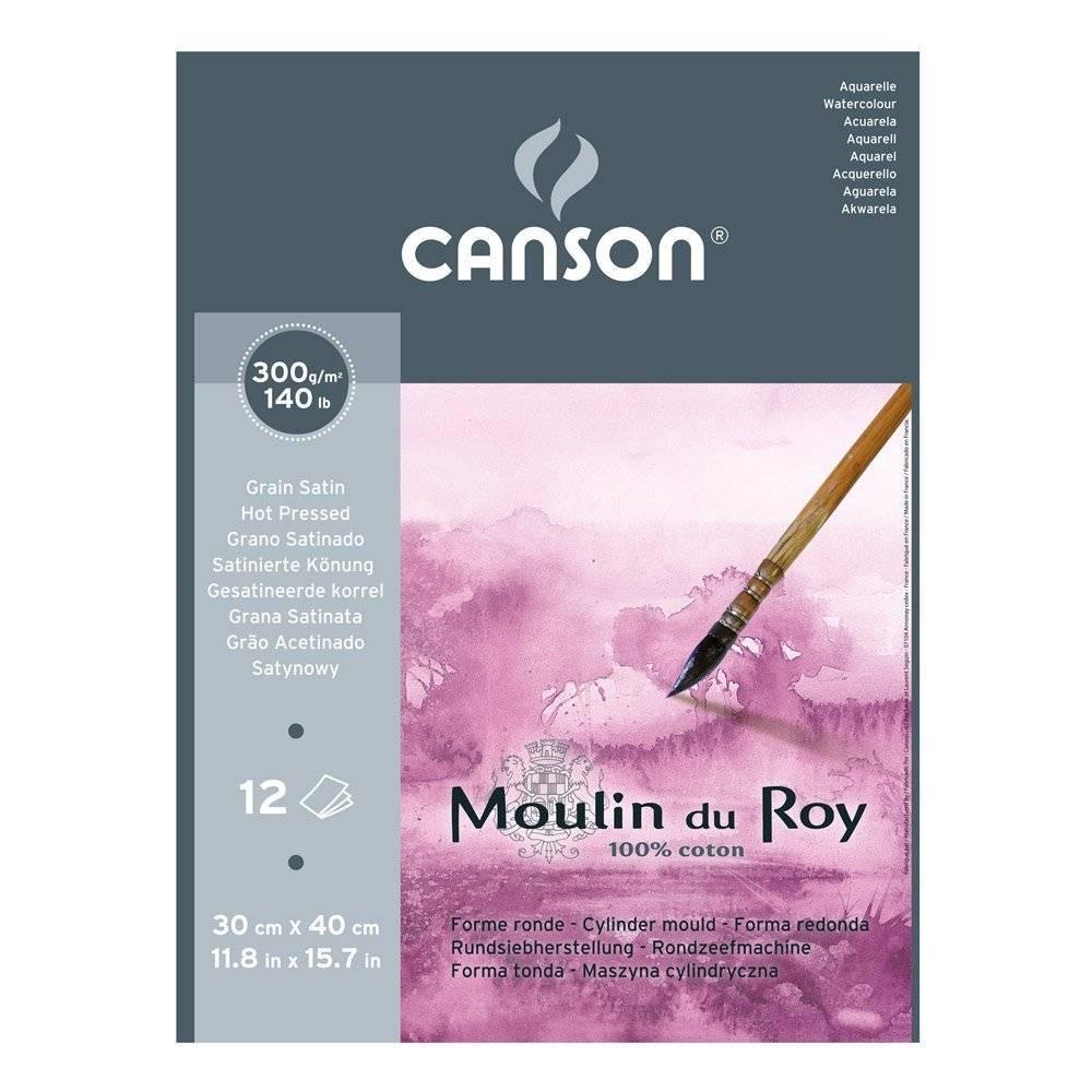 Купить Альбом-склейка для акварели Canson Moulin du Roy Satin 30х40 см 12 л 300 г, Франция