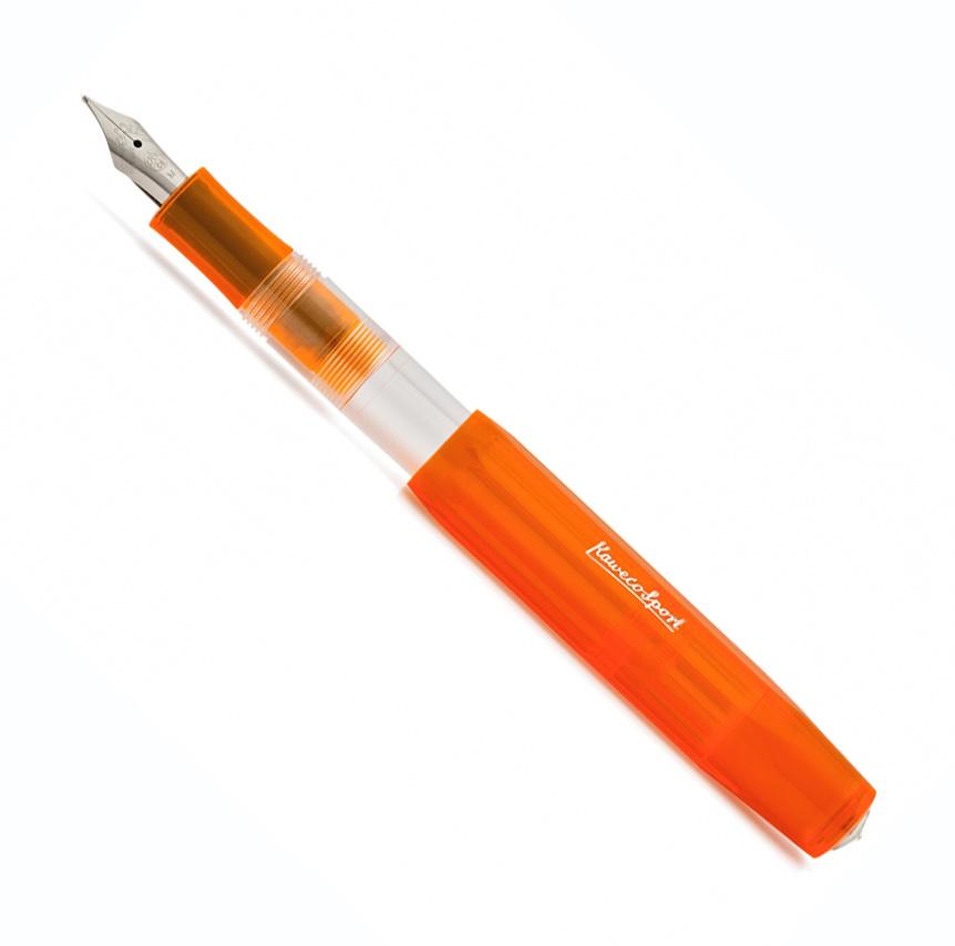 Купить Ручка перьевая Kaweco SKYLINE Sport B 1, 1 мм, чернила синие, корпус оранжевый прозрачный, Германия
