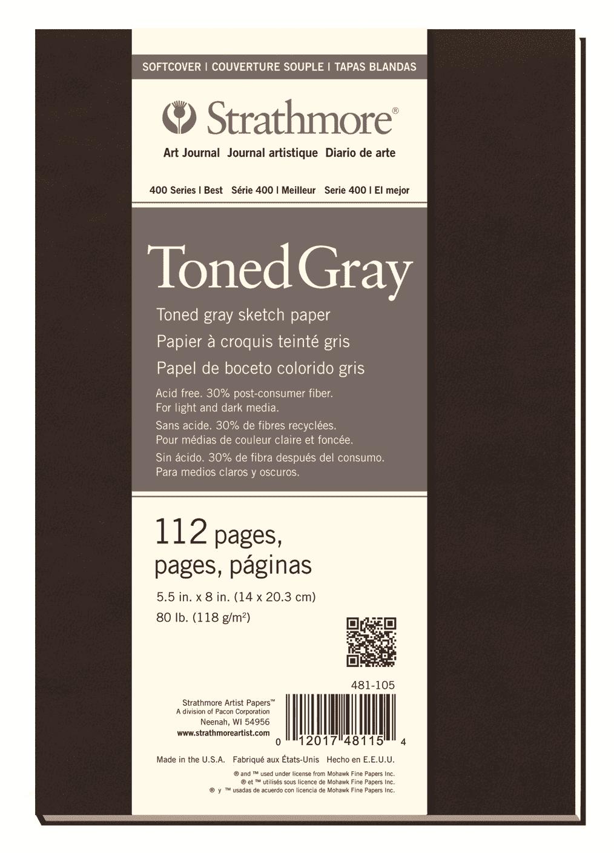 Купить Блокнот для зарисовок Strathmore 400 Series 14х20, 3 см 56 л 118 г, серый, США