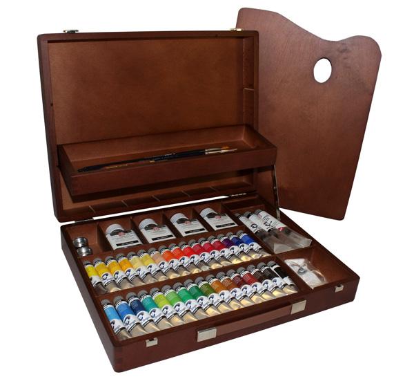 Купить Набор масла Talens Van Gogh 34 цв в деревянном ящике, Royal Talens