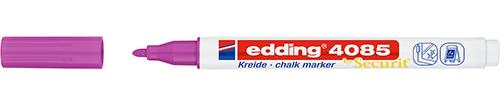 Купить Маркер меловой Edding 4085 1-2 мм с круглым наконечником, малиновый, Германия