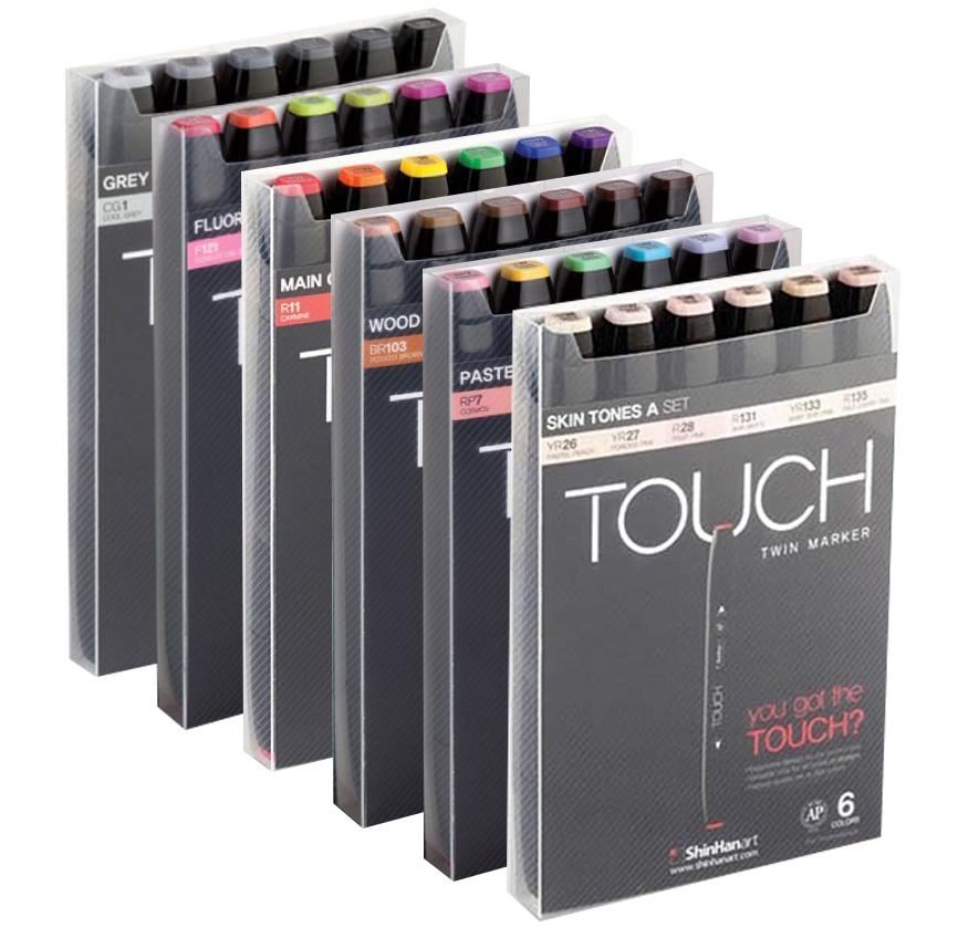 Купить Набор маркеров Touch Twin 6 цв, ShinHan Art (Touch), Южная Корея