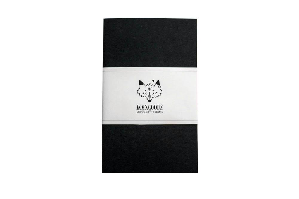 Купить Скетчбук Maxgoodz CLassic Black А5, 32 л, 135 г, черные листы, Россия