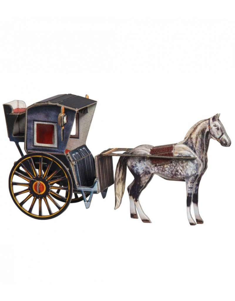 Купить Сборная модель из картона Транспорт Кэб Хенсома , Умная бумага, Россия