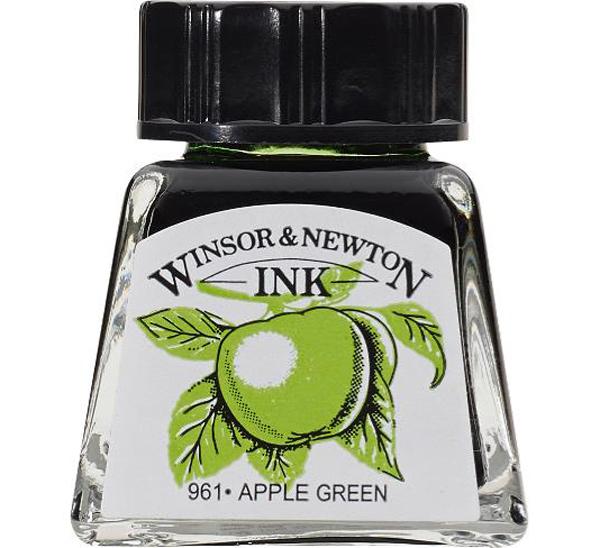"Тушь Winsor&Newton ""Drawing Inks"" 14 мл Зеленое яблоко"