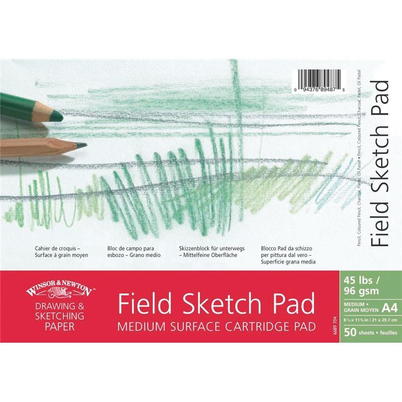 Купить Альбом для графики на спирали Winsor&Newton Medium Surface Drawing 29, 7х42 см 50 л 96 г, Winsor & Newton