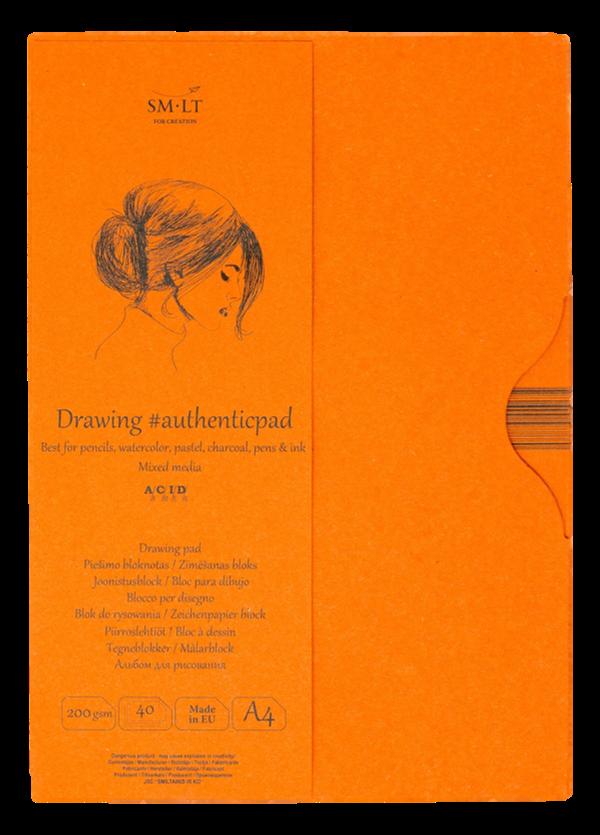 Купить Альбом-склейка для смешанных техник Smiltainis Mixed Media #authenticpad A4 40 л 200 г в папке, Литва