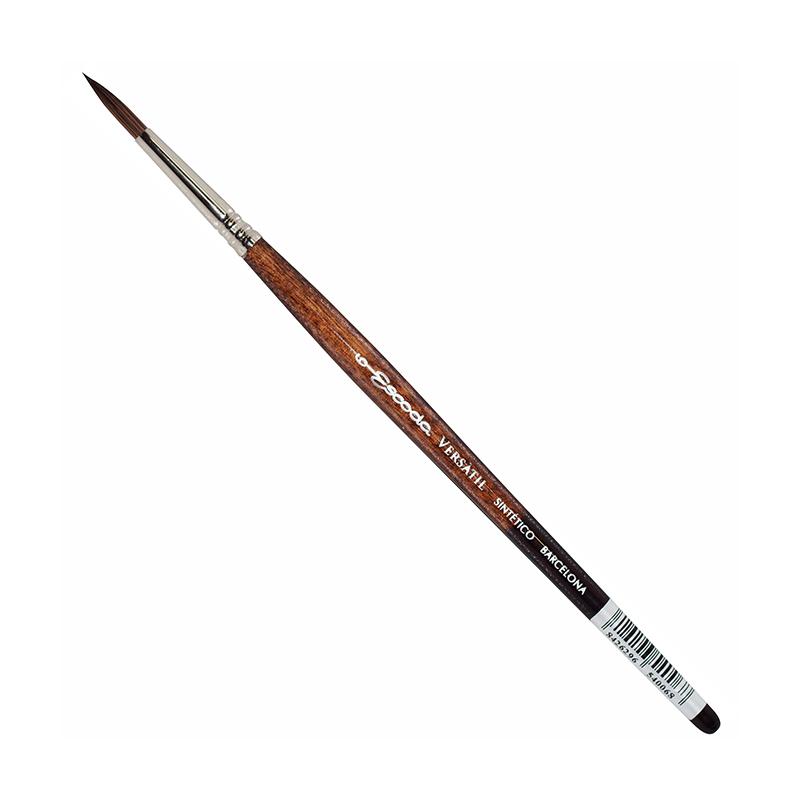 Купить Кисть синтетика №6 круглая Escoda Versatil 1540 короткая ручка коричневая, Испания