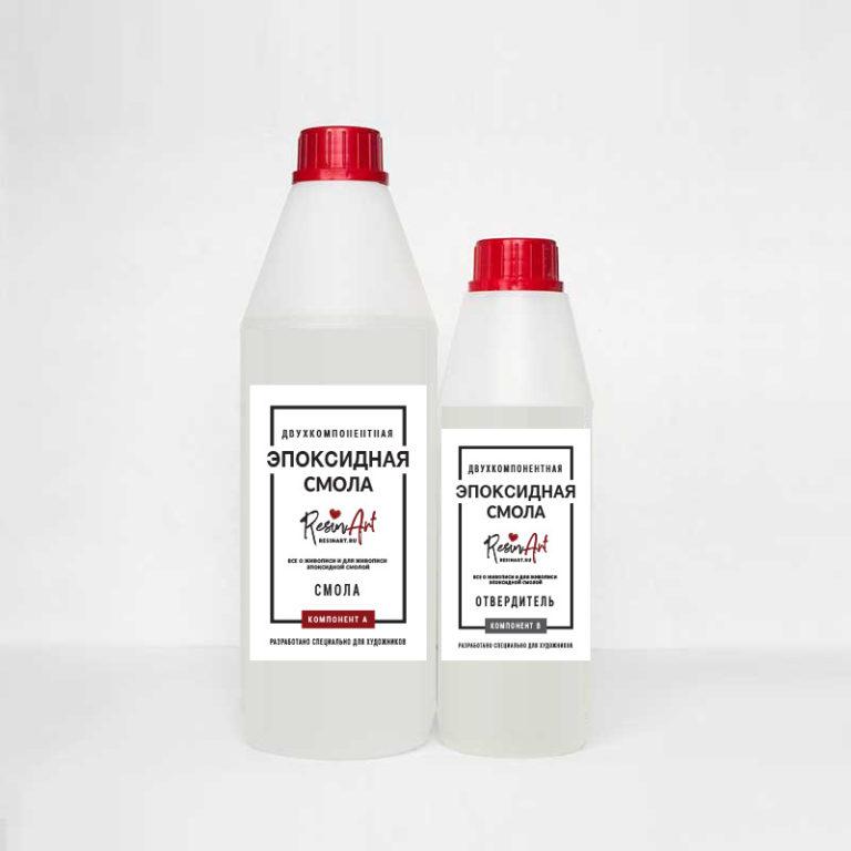 Купить Эпоксидная смола для рисования ResinArt №1 жидкая 0, 3 кг, Франция