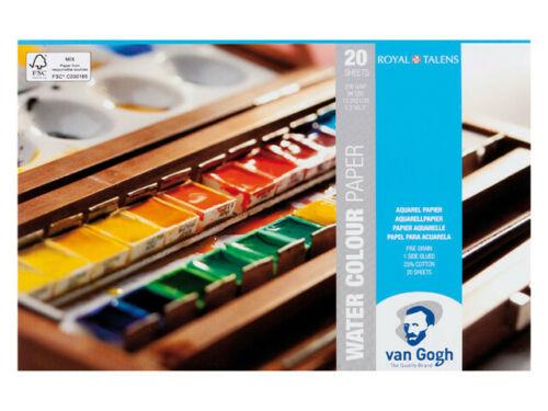 Купить Альбом-склейка для акварели Talens Van Gogh Fin 30х40 см 12 л 300 г хлопок 25%, Royal Talens