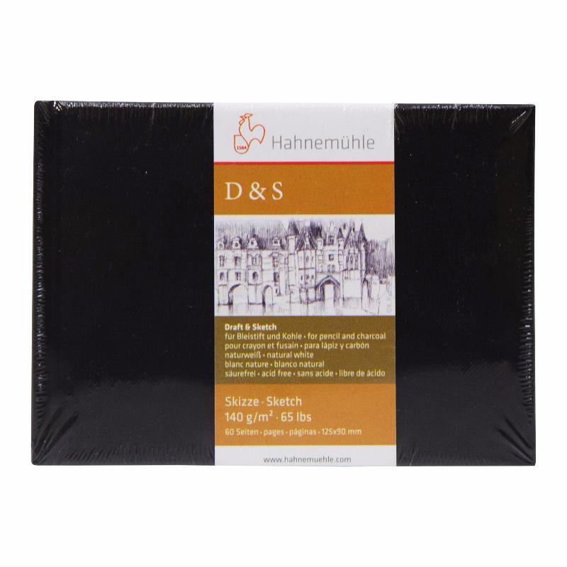 Купить Блокнот для эскизов Hahnemuhle D&S mini 12, 5х9 см 30 л 140 г, твердая облоожка, HAHNEMUHLE FINEART, Германия