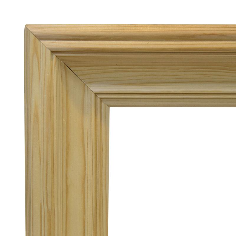 Рама 50х70 см деревянная некрашенная (ширина багета 9,1 см) фото