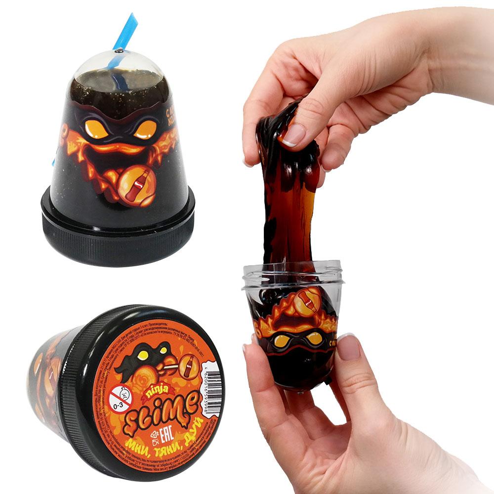 Купить Игрушка Slime Ninja, с ароматом колы, 130 гр, Волшебный мир, Россия