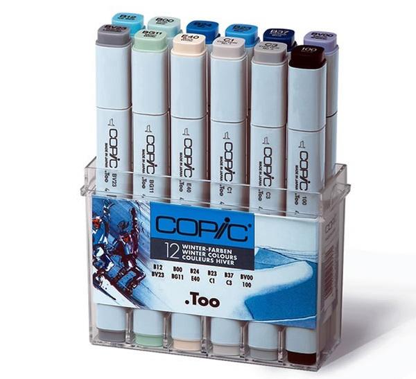 Набор маркеров Copic 12 шт Зима холодных оттенков, в пластике, Copic Too (Izumiya Co Inc), Япония  - купить со скидкой