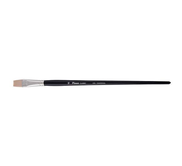 Купить Кисть синтетика №12 плоская Pinax Classic длинная ручка, Китай