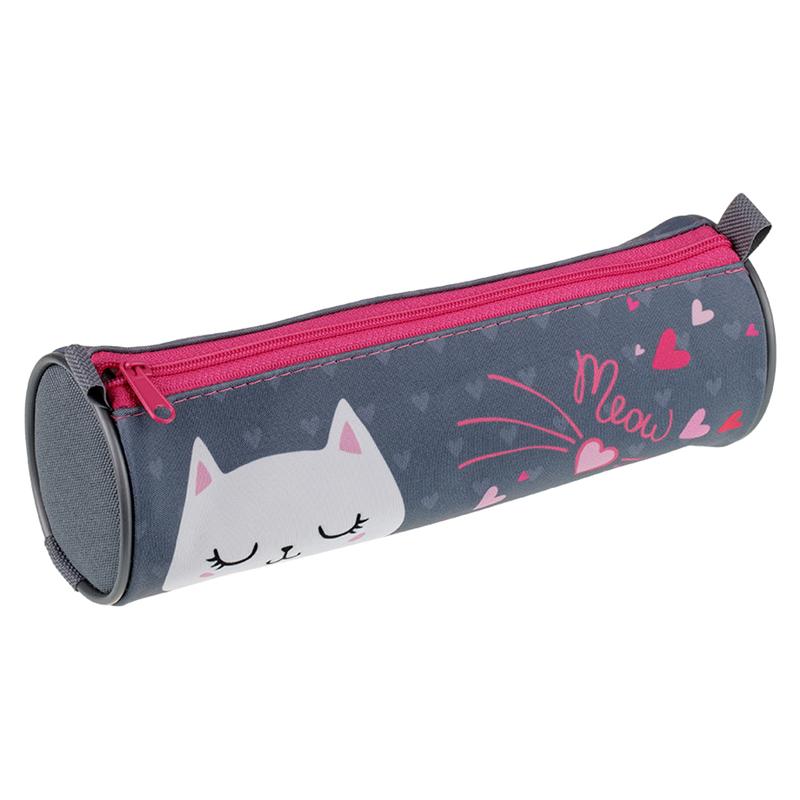 Купить Пенал-тубус Berlingo Lovely cat 210*70 мм, полиэстер, Россия