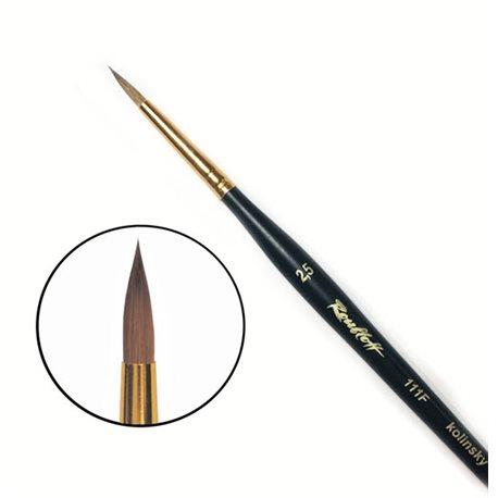 Купить Кисть колонок №2, 5 круглая Roubloff 111F фигурная коротка ручка, матовая, Россия