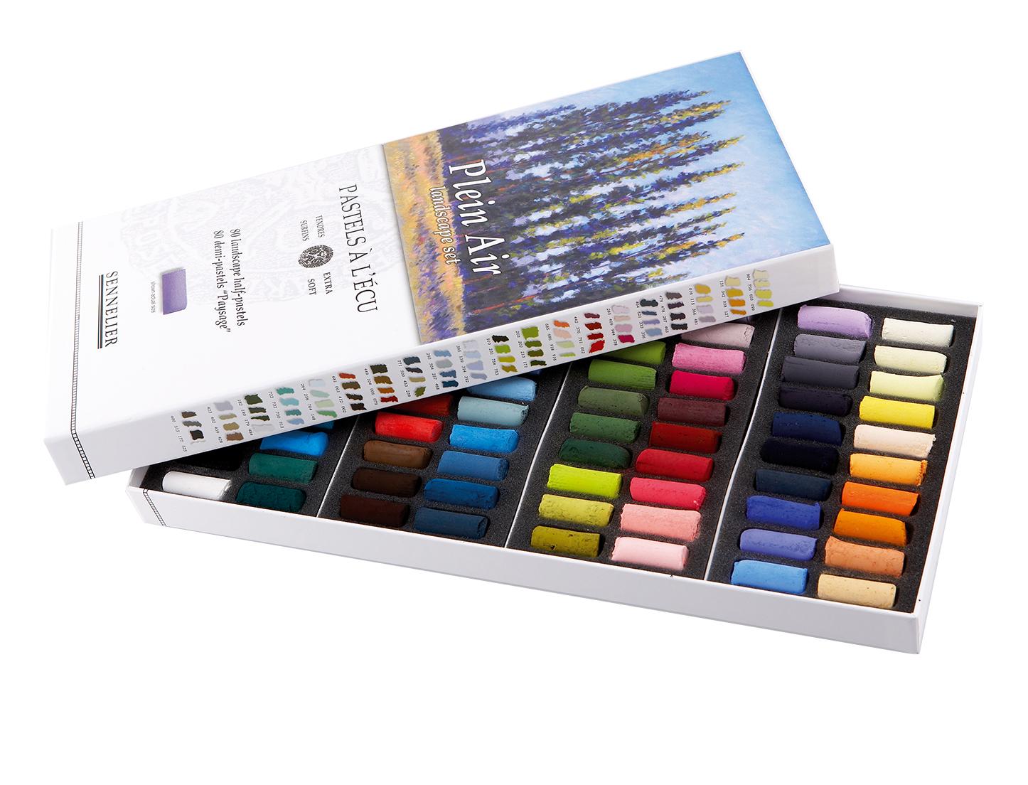 """Купить со скидкой Набор сухой пастели Sennelier """"A LECU"""" 80 цв 1/2 Пейзаж, в картонной коробке"""
