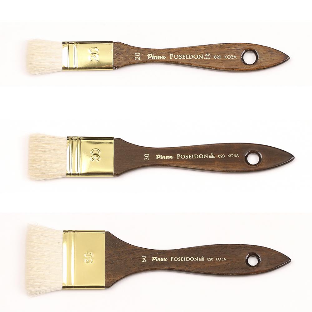 Купить Кисть коза флейц Pinax Poseidon 820 короткая ручка, Китай
