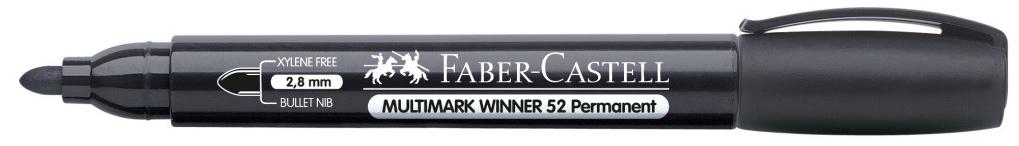 Купить Маркер перманентный Faber-Castell Winner 52 1-2 мм, с круглый наконечником, черный, Faber–Сastell, Германия