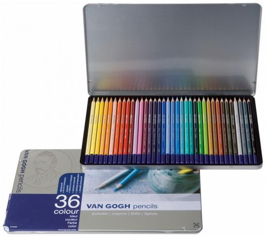 Купить Набор карандашей цветных Talens Van Gogh 36 цв, Royal Talens