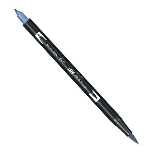 Купить Маркер-кисть двусторонний на водной основе Tombow ABT 533 синий переливчатый, Япония